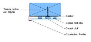 Cedral Click Connection Profile Installation