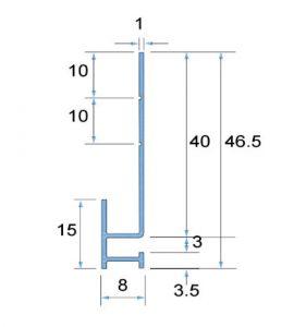 Cedral Click Start profile Dimensions