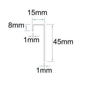 Cedral Click Connection Profile Dimensions